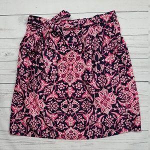 Francescas Floral Boho Bow Tie Stretch Skirt Med